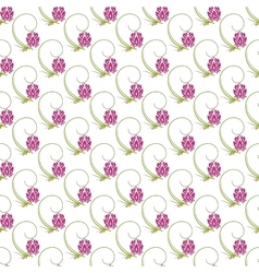 Abstract floral nature seamless pattern design vector image