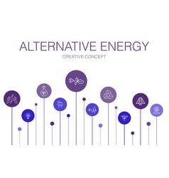 Alternative energy infographic 10 steps template vector