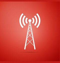Antenna icon isolated radio antenna wireless vector