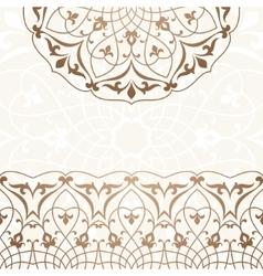 Arabic vintage invitation card vector