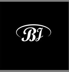 B j letter logo element designb j letter logo vector