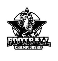 Badge american football championship all star vector