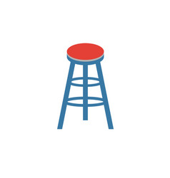 Bar stool icon flat creative element from bar and vector