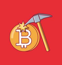 bitcoin coins design vector image