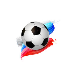 black and white soccer ball with creative design vector image