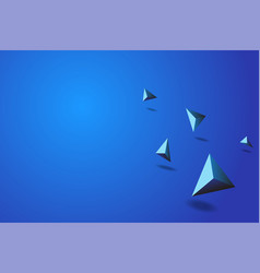 blue prism abstract background vector image