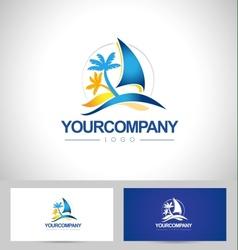 Boat Logo Yacht vector