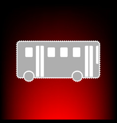 bus simple style vector image
