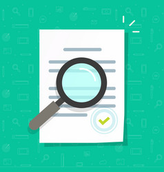business legal document expertise or inspection vector image