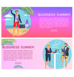 business summer with text vector image