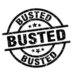 Busted round grunge black stamp vector