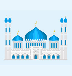 Cathedral mosque church temple traditional vector