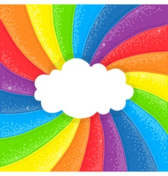 cloud on rainbow vector image vector image