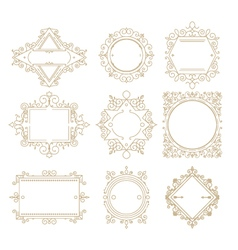 Collection of vintage classic frames Set frames vector image