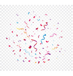 Colorful confetti explosion vector