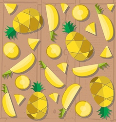 Colorful of pineapple slices vector image