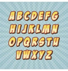 Comic font alphabet pop art vector