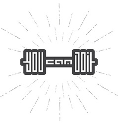 Dumbbell with motivation text - You Can Do it vector