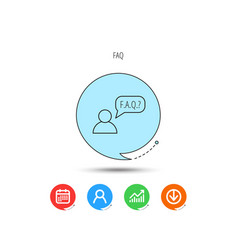 faq service icon support speech bubble sign vector image