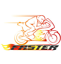 Faster racing championship vector