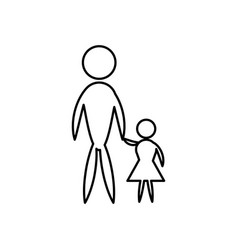father and son pictogram flat icon family concept vector image