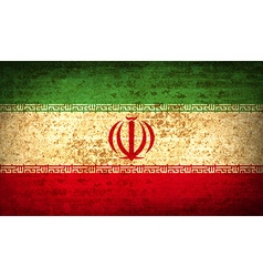 Flags Iran with dirty paper texture vector image