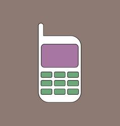 Flat icon design collection cellphone silhouette vector