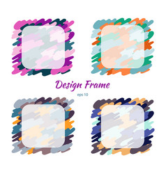 frame colorful camouflage and texture design vector image
