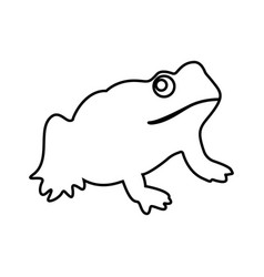 Frog it is black icon vector