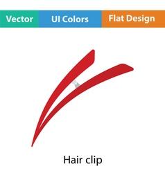 Hair clip icon vector image