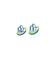 house building greening icon logo vector image