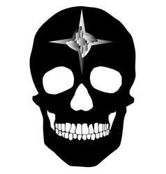 human skull geometry and design vector image