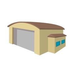 Industrial warehouse with roller door cartoon icon vector image