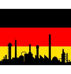 industry and flag of germany vector image