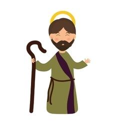 Joseph icon Merry Christmas design vector image