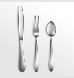 knife and fork spoon for kitchen and food vector image