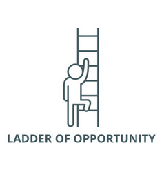 ladder opportunity line icon linear vector image