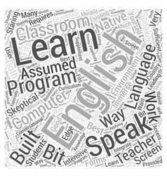 learn to speak english Word Cloud Concept vector image