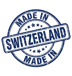 made in Switzerland vector image