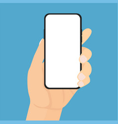 man hand phone vector image