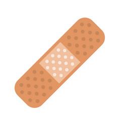 Medical plaster bandage adhesive vector