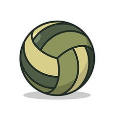 Military sport ball Army Sports accessory for vector