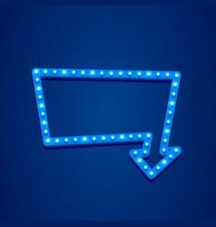 neon open frame arrow vector image