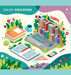 Online learning concept online education vector