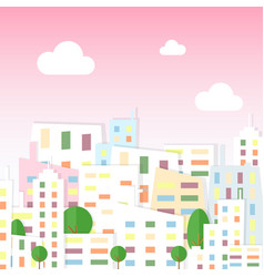 paper city view in cartoon vector image