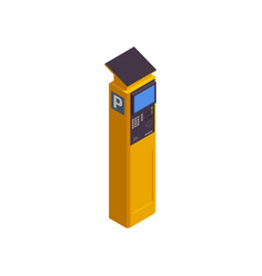 Parking station isometric icon vector