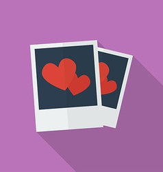 Photos with hearts Flat style icon vector image