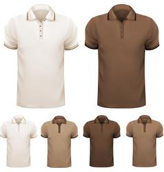 polo shirt man vector image