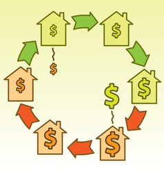 Real estate bubble cycle vector