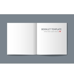 Realistic template of square book vector image